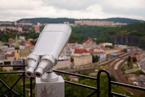 Binocular Coin Distance Instrument Lens Look