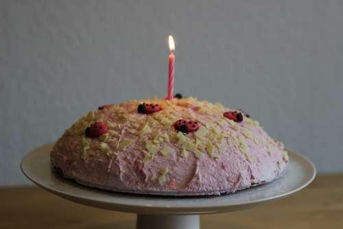 Birthday Cake Cake Birthday Sweet Candle