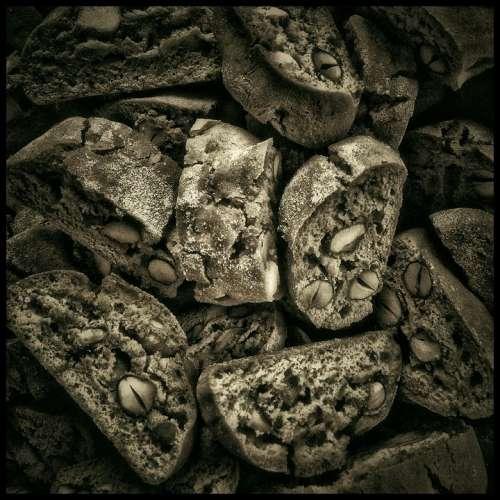 Biscotti Pastries Food Almonds Nuts Cookies Bake