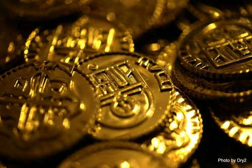 Bitcoin Coins Gold Money Currency Wealth Rich