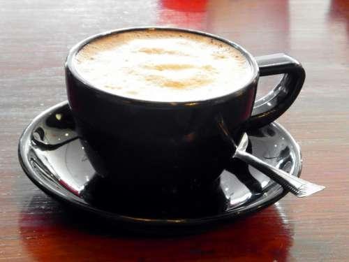 Black White Barista Cappuccino Coffee Design Cup