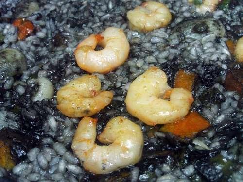 Black Rice Rice Paella Food Power