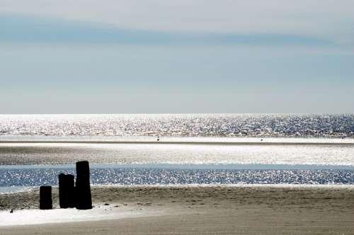 Blackpool Sea Beach Landscape Season Spring
