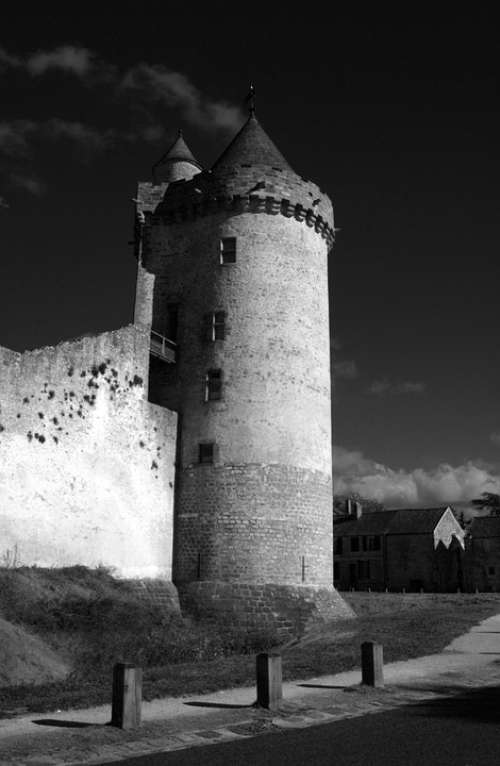 Blandy Towers Fort Strong Castle Black And White