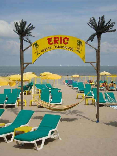 Blankenberge Belgium Beach Sand Summer Sea Eric