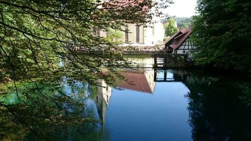 Blautopf Schöne Lau Blaubeuren Mirroring Water
