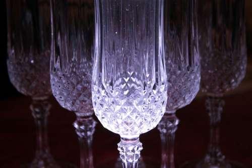 Blue Glass Art Crystal Glasses