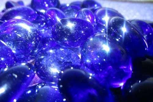 Blue Rhinestones Shine