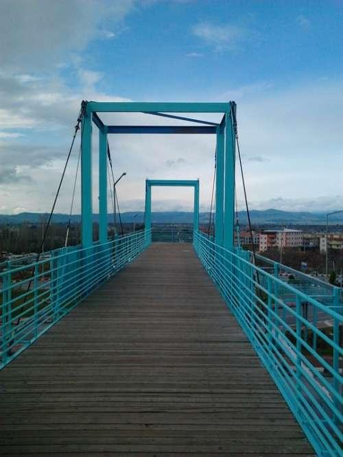 Blue Pedestrian Gateway