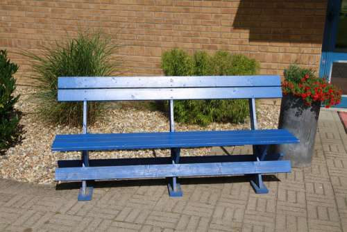 Blue Bench Decorative Stone Lund