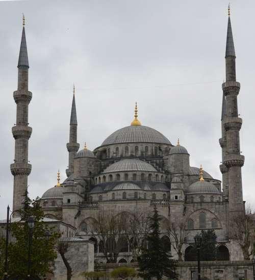 Blue Mosque Mosque Minaret Tower Faith Building