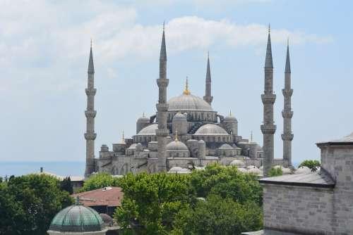 Blue Mosque Istanbul Turkey Islam Architecture