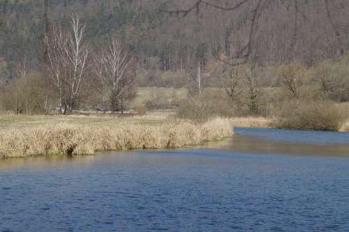 Blue Valley River Creek Blue Bach Bend River Bend