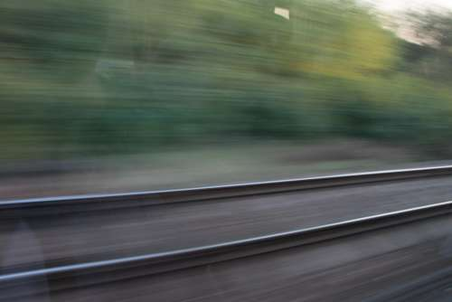Blurred Motion Railway Speed Track Trains