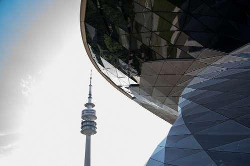 Bmw World Tv Tower Munich Architecture Building