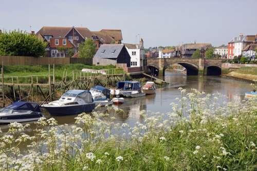 Boat Boats River Scene View Arun Arundel Sussex