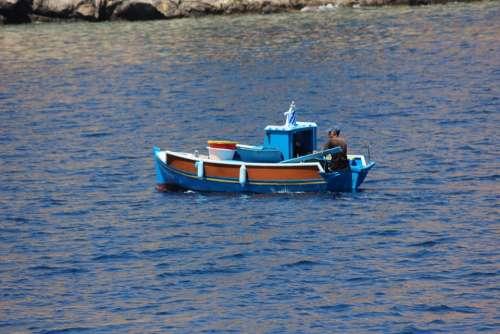 Boat Fishing Boat Mediterranean Sea Greek