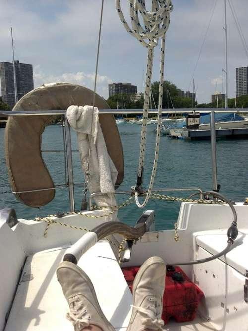 Boat Sailboat Water Lake Summer Sailing Ship