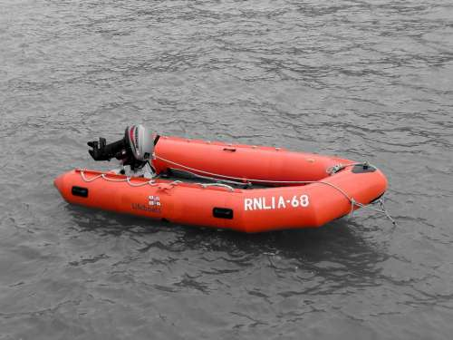 Boat Lifeboat Dinghy Water Sea River Rnli Rescue
