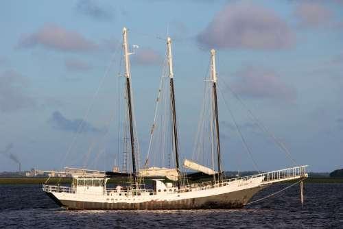 Boat Sail Water Nature Sky Ship