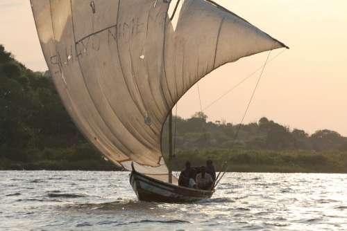 Boat Sea Landscape Sailing Boats Africa