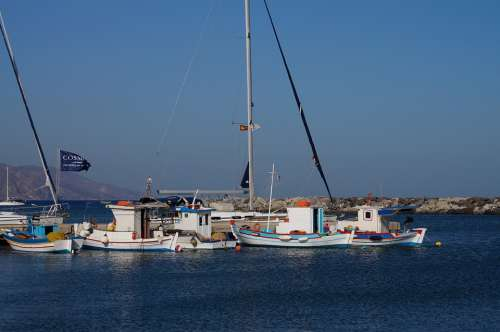 Boat Kos Greece Port Fisherman Mediterranean Sea