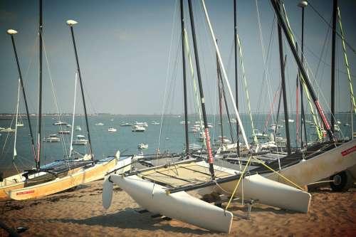 Boat Sea Ocean Boats Horizon Browse Sailboats