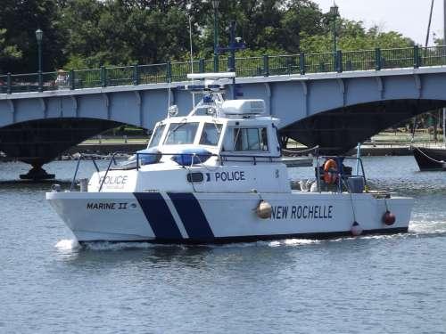 Boat Ship Water Police Police Boat Patrol Boat