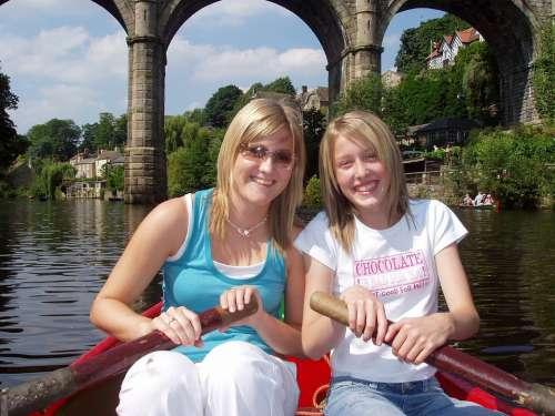 Boating Woman Girl Family Happy Friends River
