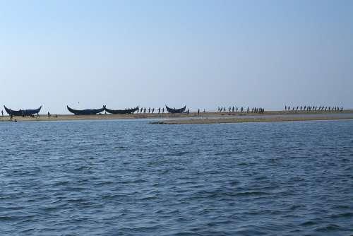 Boats Beach Sea Fishing Boat