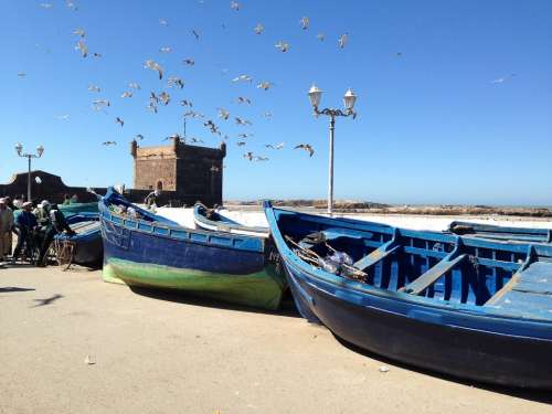 Boats Fishing Blue Essaouira