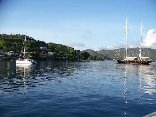 Boats Sailing Travel Vacation Sun Harbor Bay
