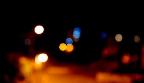 Bokeh Night City Light Focus Background