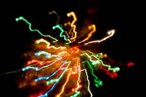 Bokeh Colors New Year Lights Christmas Blur