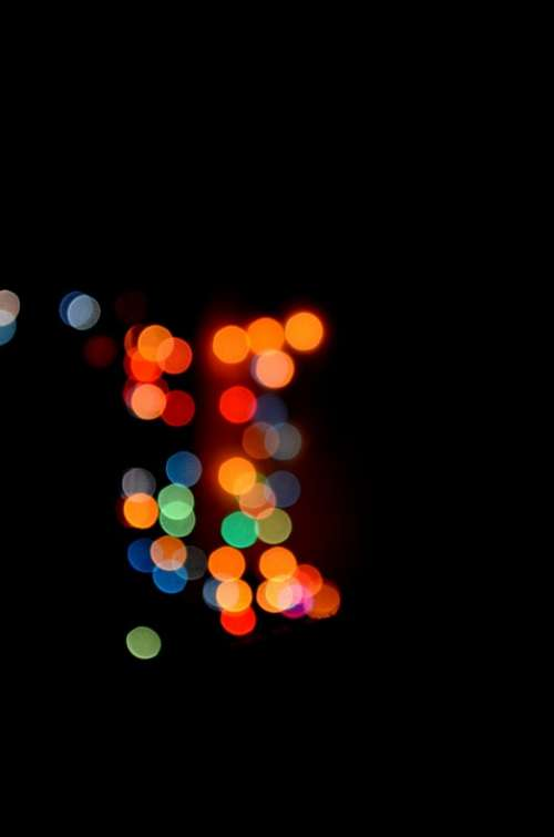 Bokeh Lights Dark Blur Abstract Design Defocused