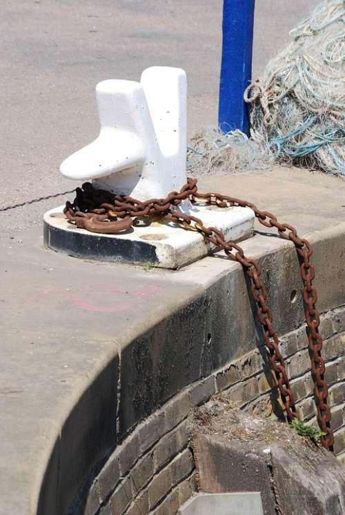 Bollard Mooring Harbor Chain Port