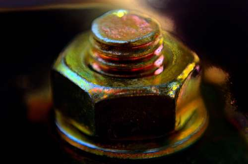 Bolt Nut Background Joints Fittings Anchorage