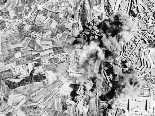 Bombing Bomb Destruction Italy World War Ii Wwii