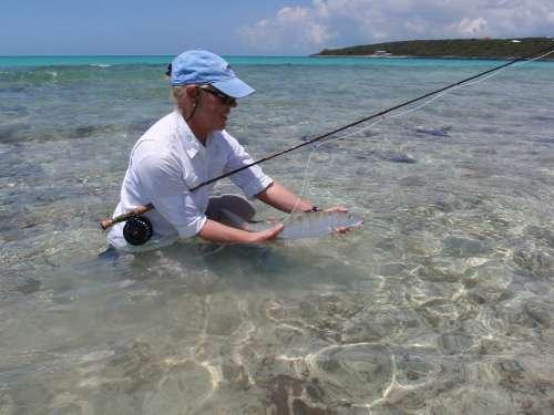 Bone Fish Fly Fishing Bahama Bone-Fish Woman