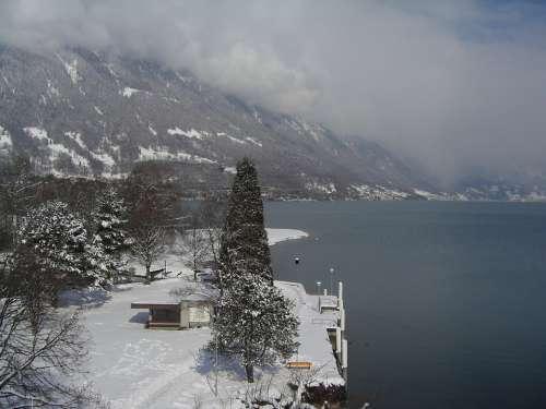 Bönigen Switzerland Winter
