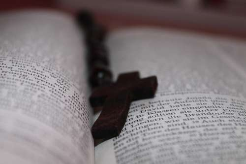 Book Bible Cross Rosary Christianity The Holy Book