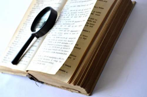 Book Magnifying Glass Loupe Lookup Find Search
