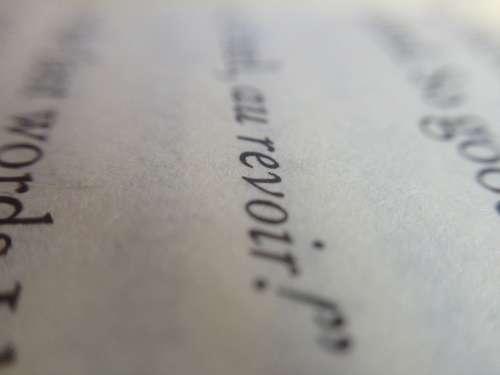Book Font Au Revoir Read Education School Letters
