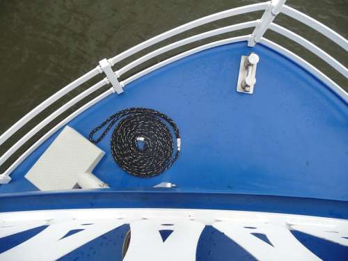 Boat Blue Dew Railing Vacations Ship Baltic Sea