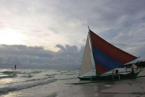 Boracay Beach Beach Sea Sunset