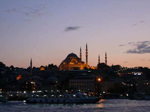 Bosphorus Turkey Istanbul By Night