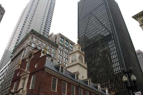 Boston City Cityscape Massachusets Buildings Tall