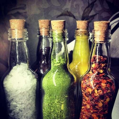 Bottle Salt Coffee Mustard Erb Pepper Food