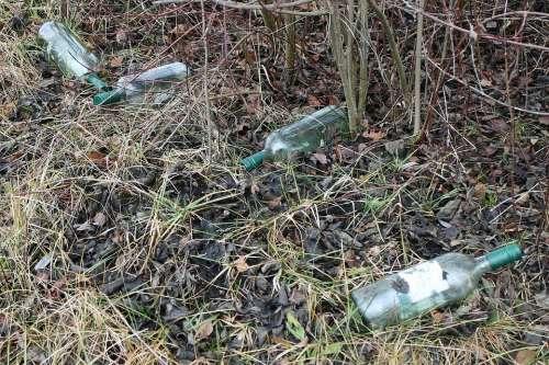 Bottle Bottles Glass Garbage Throw Away Society
