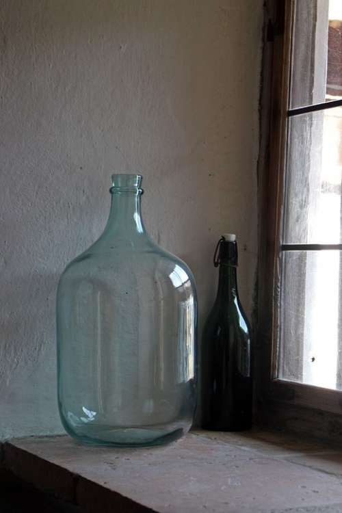Bottle Glass Bottle Large Window Sill Wine Bottle